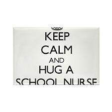 Keep Calm and Hug a School Nurse Magnets