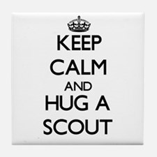 Keep Calm and Hug a Scout Tile Coaster