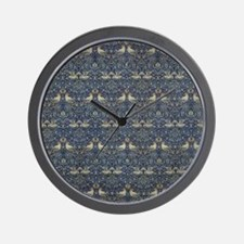 Morris Blue Pattern with Birds Wall Clock
