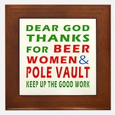 Beer Women and Pole Vault Framed Tile