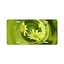 Daisies Bottled Laptop Skin Aluminum License Plate