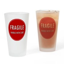 Fragile, Handle with care Drinking Glass