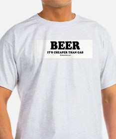 Beer, it's cheaper than gas / drinking humor Ash G