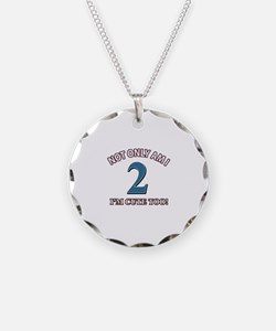 2 year old birthday designs Necklace