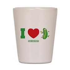 I Heart Pickles Shot Glass