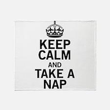 Keep Calm Take a Nap Throw Blanket