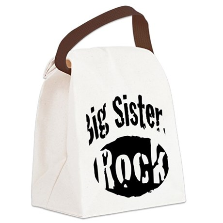 big_sisters_rock Canvas Lunch Bag