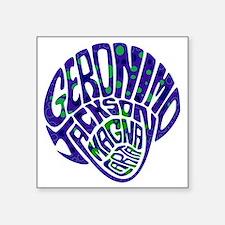 "GeronimoJackson02_12x12W Square Sticker 3"" x 3"""