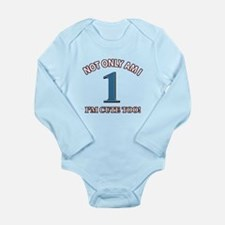 1 year old birthday designs Long Sleeve Infant Bod