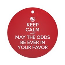 Keep Calm May the Odds Be Ever In Your Favor Ornam