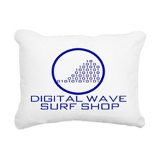 DWSS Logo on Circle Back Rectangular Canvas Pillow