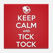 Keep Calm Tick Tock Tile Coaster