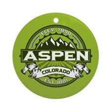 Aspen Green Ornament (Round)