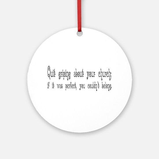 Perfect Church Ornament (Round)