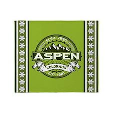 Aspen Green Throw Blanket