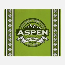 Aspen Green Throw Blanket