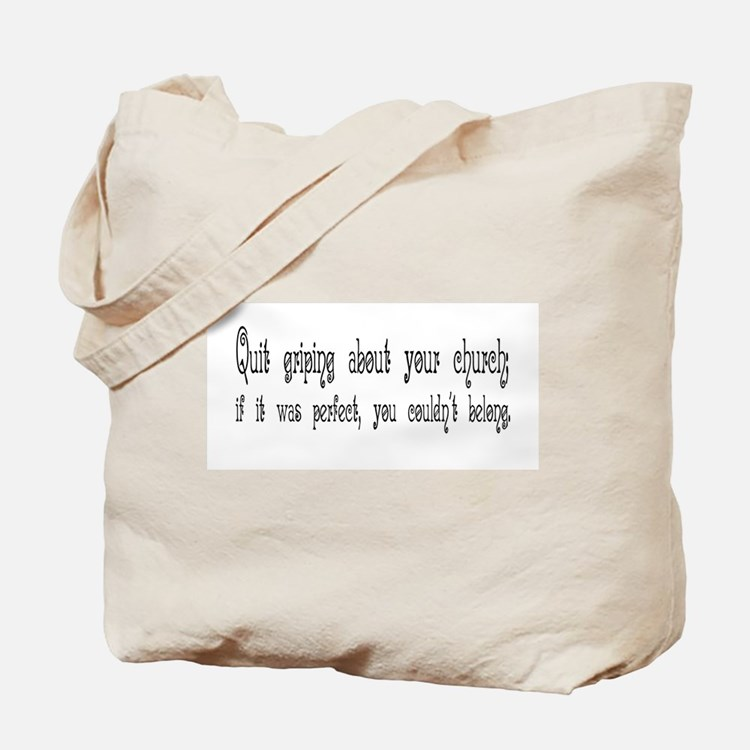 Perfect Church Tote Bag