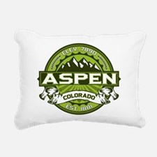 Aspen Green Rectangular Canvas Pillow