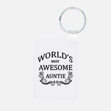World's Most Awesome Auntie Keychains