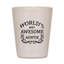 World's Most Awesome Auntie Shot Glass