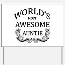 World's Most Awesome Auntie Yard Sign