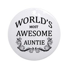 World's Most Awesome Auntie Ornament (Round)