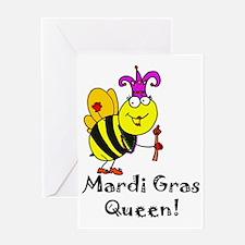 Mardi Gras Queen copy Greeting Card
