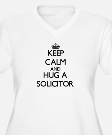 Keep Calm and Hug a Solicitor Plus Size T-Shirt