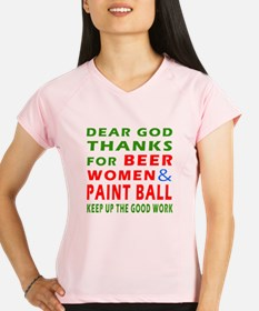 Beer Women and Paint Ball Performance Dry T-Shirt