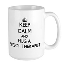 Keep Calm and Hug a Speech Therapist Mugs