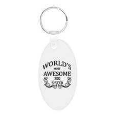 World's Most Awesome Big Sister Keychains