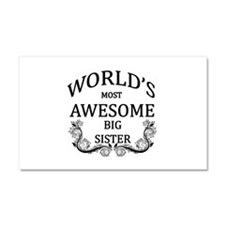 World's Most Awesome Big Sister Car Magnet 20 x 12