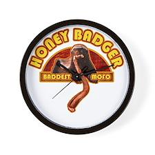 honey_badger_shirt Wall Clock
