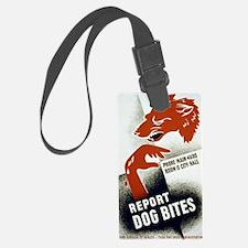 Retro Report Dog Bites Luggage Tag