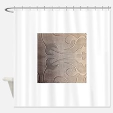 pearl grey damask pattern Shower Curtain