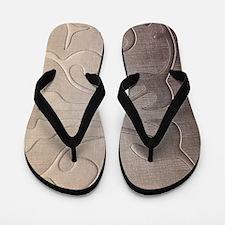 pearl grey damask pattern Flip Flops