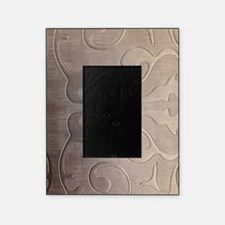pearl grey damask pattern Picture Frame