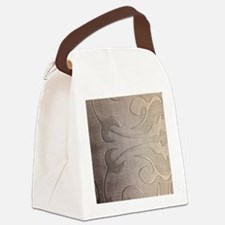 pearl grey damask pattern Canvas Lunch Bag