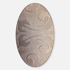 pearl grey damask pattern Bumper Stickers