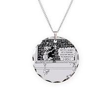 Space Alien Teacher Necklace Circle Charm