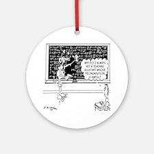Space Alien Teacher Round Ornament