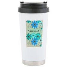 pharmD retro flowers 4 Travel Mug