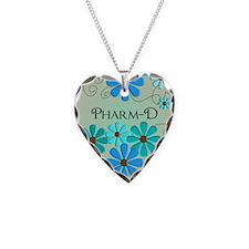 pharmD retro flowers 4 Necklace