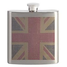 vintage UK flag fashion Flask
