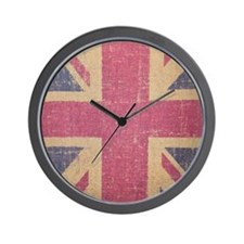 vintage UK flag fashion Wall Clock