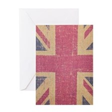 vintage UK flag fashion Greeting Card