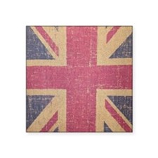 "vintage UK flag fashion Square Sticker 3"" x 3"""