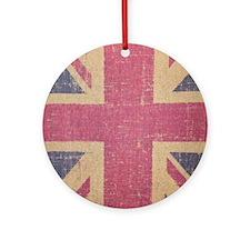 vintage UK flag fashion Round Ornament