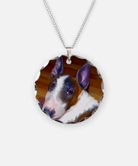 bullterrier-sq Necklace Circle Charm