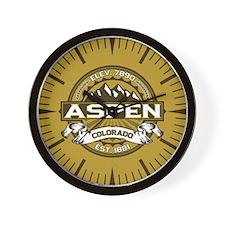 Aspen Tan Wall Clock